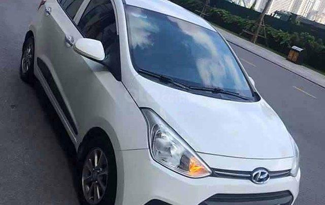 Cần bán Hyundai Grand i10 sản xuất năm 2016, màu trắng, giá chỉ 343 triệu0