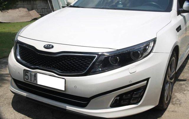 Bán xe Kia Optima năm sản xuất 2014, màu trắng, nhập khẩu Hàn Quốc xe gia đình0