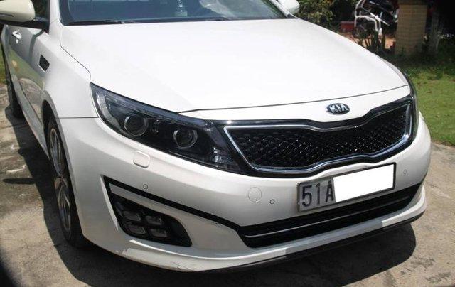 Bán xe Kia Optima năm sản xuất 2014, màu trắng, nhập khẩu Hàn Quốc xe gia đình1
