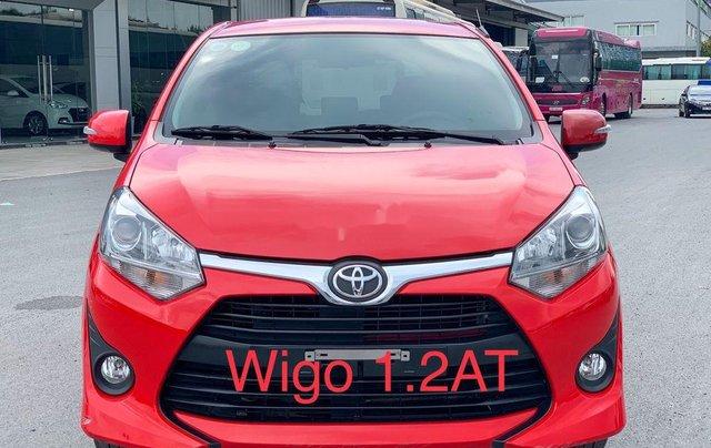Cần bán xe Toyota Wigo 2018, màu đỏ, xe nhập, giá 345tr0