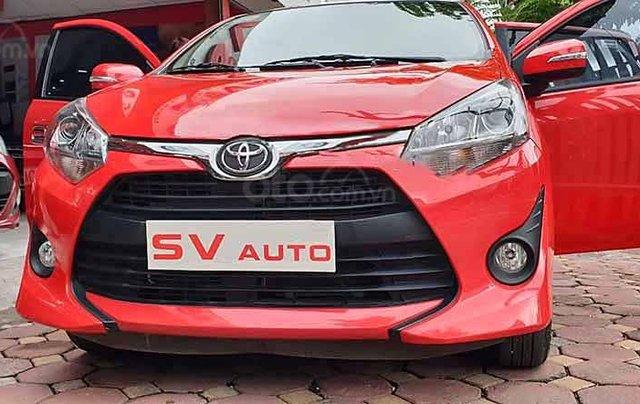 Bán Toyota Wigo 1.2 đời 2019, màu đỏ, xe nhập số tự động0