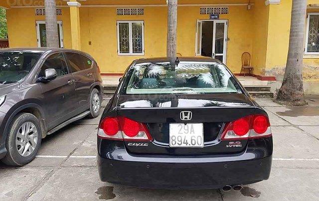 Cần bán xe Honda Civic 2.0 AT năm 2007, màu đen còn mới, giá 290tr3