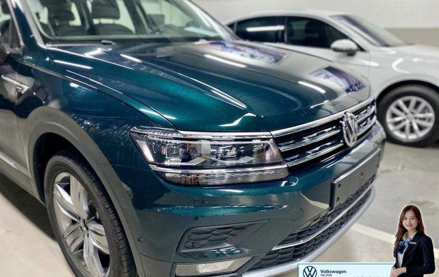 Xe Tiguan Luxury xanh rêu - khuyến mãi giá tốt - SUV 7 chỗ nhập khẩu2