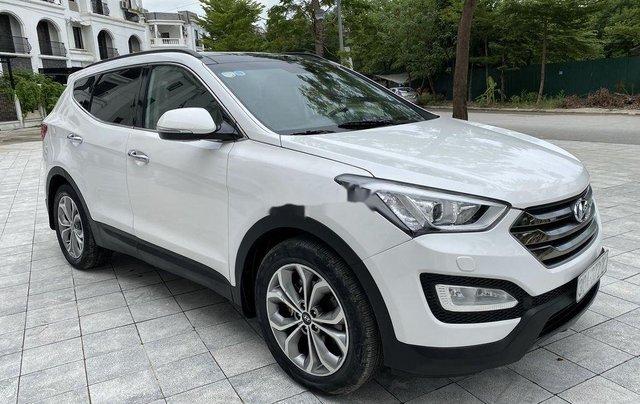 Cần bán lại xe Hyundai Santa Fe sản xuất 2014, màu trắng 1