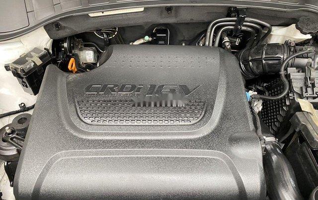 Cần bán lại xe Hyundai Santa Fe sản xuất 2014, màu trắng 8