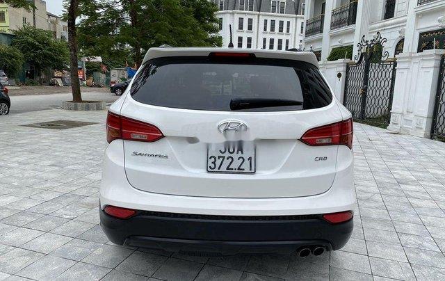 Cần bán lại xe Hyundai Santa Fe sản xuất 2014, màu trắng 3