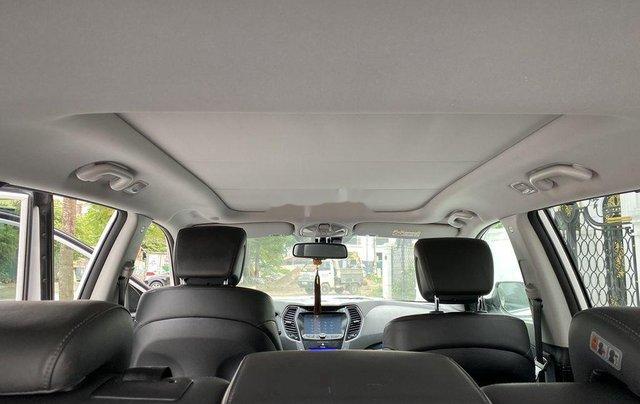 Cần bán lại xe Hyundai Santa Fe sản xuất 2014, màu trắng 7