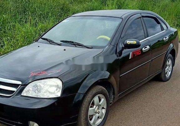 Bán xe Daewoo Lacetti đời 2008, màu đen0