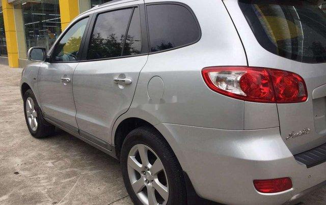 Bán xe Hyundai Santa Fe sản xuất 2009, màu bạc, xe nhập  4