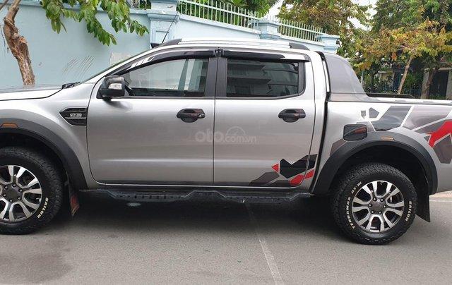 Bán Ford Ranger Wildtrak 2 cầu dầu 3.2 số tự động, đời 2017, màu xám bạc đẹp mới 80%6