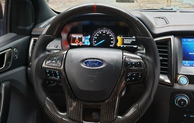 Bán Ford Ranger Wildtrak 2 cầu dầu 3.2 số tự động, đời 2017, màu xám bạc đẹp mới 80%9
