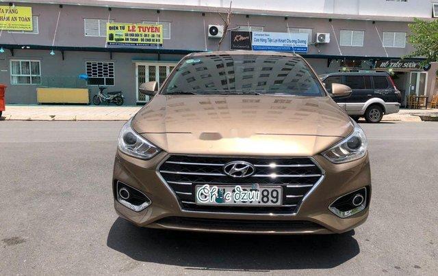 Cần bán gấp Hyundai Accent đời 2019, nhập khẩu, màu vàng cát3