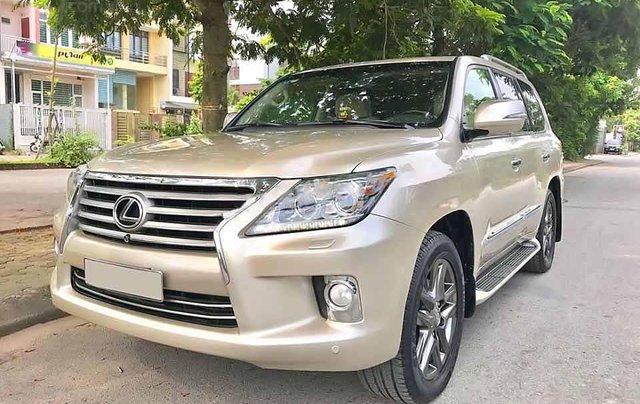 Cần bán Lexus LX 570 sản xuất 2012, màu vàng cát, nhập khẩu còn mới0