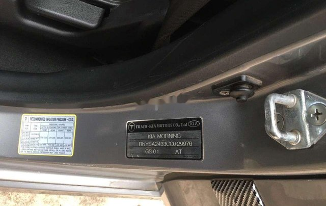 Cần bán gấp Kia Morning sản xuất năm 2012, màu xám  7