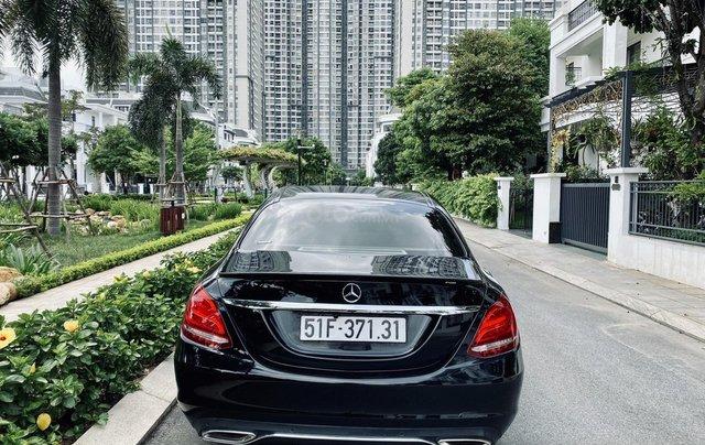 Mercedes C200 sx 2015, đk 2016, màu đen, nội thất kem1