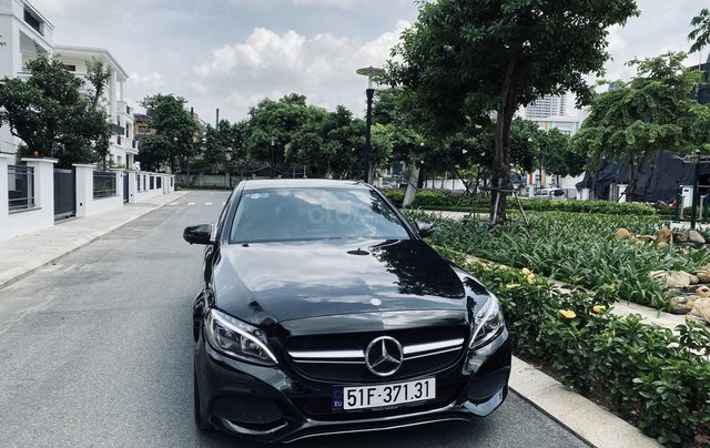 Mercedes C200 sx 2015, đk 2016, màu đen, nội thất kem2