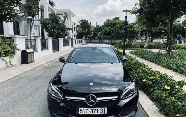 Mercedes C200 sx 2015, đk 2016, màu đen, nội thất kem6