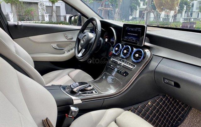 Mercedes C200 sx 2015, đk 2016, màu đen, nội thất kem14