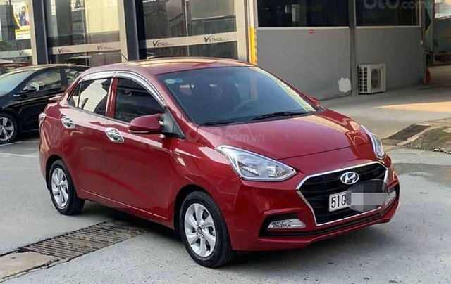 Bán lại xe Hyundai Grand i10 sản xuất 2018, màu đỏ, số tự động0