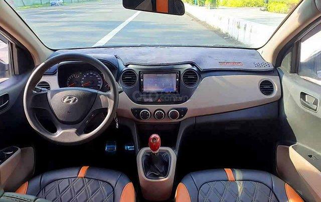 Bán Hyundai Grand i10 năm 2015, màu bạc, nhập khẩu  4