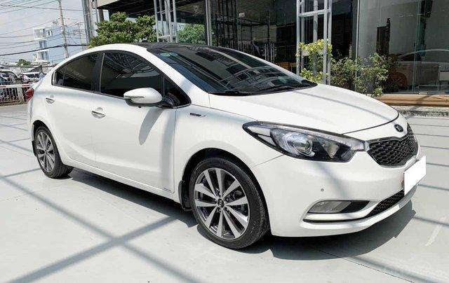 Bán Kia K3 1.6AT cuối 2014, màu trắng, một chủ xe cực đẹp, bao kiểm tra hãng giá rẻ1