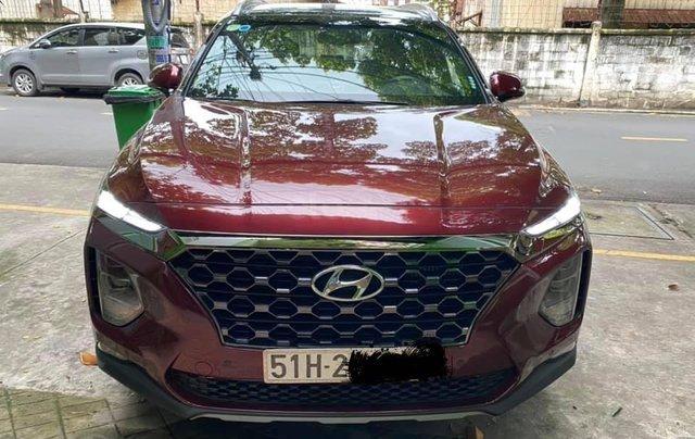 Xe Hyundai Santa Fe sx 2019, màu đỏ chính chủ giá 1 tỷ 199 triệu đồng1