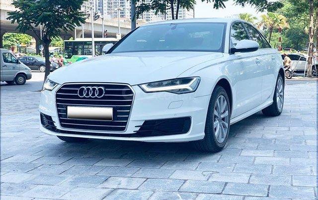 Audi A6 - Sx 2016, màu trắng nội thất nâu0