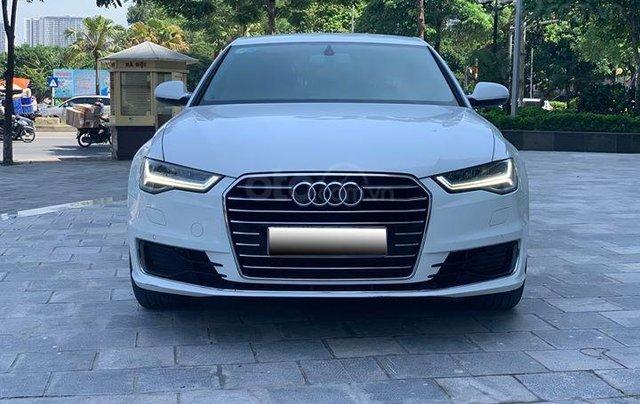 Audi A6 - Sx 2016, màu trắng nội thất nâu1