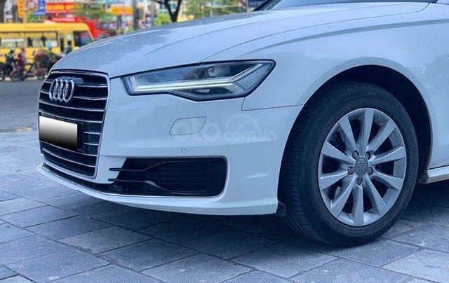 Audi A6 - Sx 2016, màu trắng nội thất nâu2