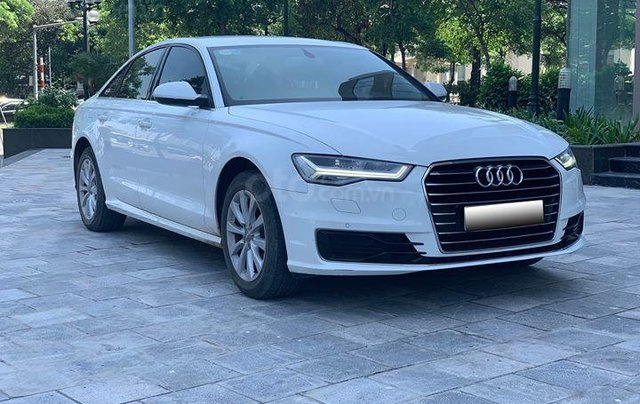 Audi A6 - Sx 2016, màu trắng nội thất nâu8