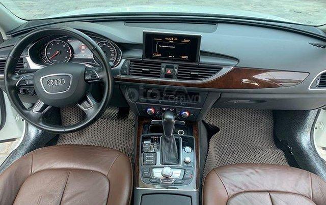 Audi A6 - Sx 2016, màu trắng nội thất nâu13