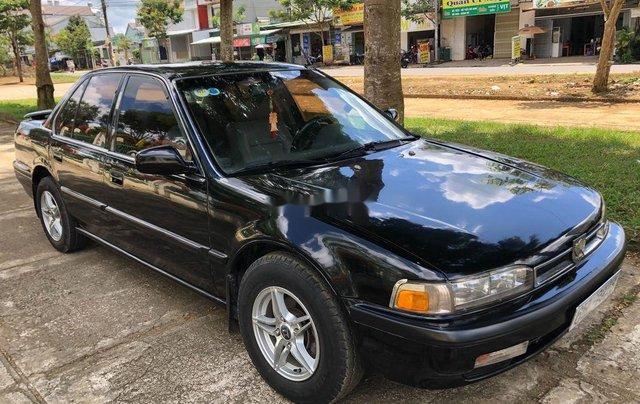 Bán Honda Accord năm sản xuất 1991, màu đen, nhập khẩu, tiết kiệm xăng0
