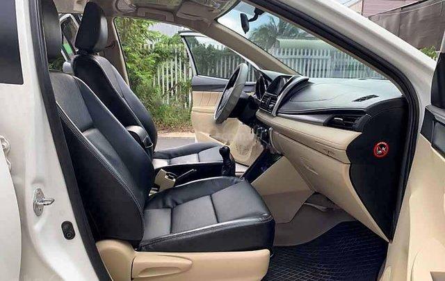 Bán ô tô Toyota Vios 1.5E sản xuất năm 2017, màu trắng còn mới, giá 383tr1