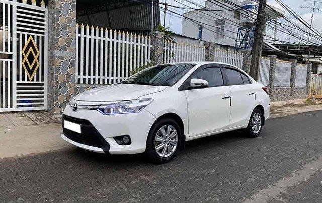 Bán ô tô Toyota Vios 1.5E sản xuất năm 2017, màu trắng còn mới, giá 383tr0