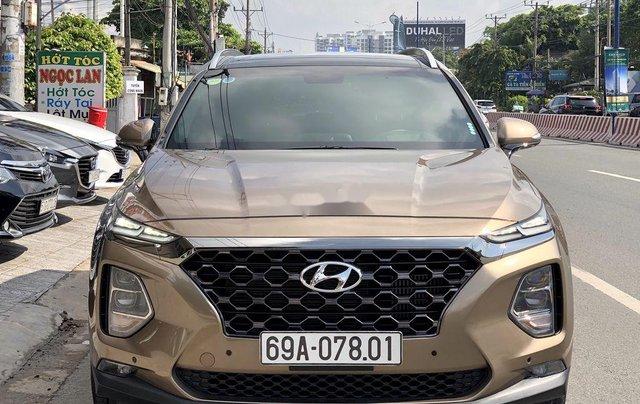 Bán Hyundai Santa Fe năm 2020, màu nâu, máy dầu cao cấp0