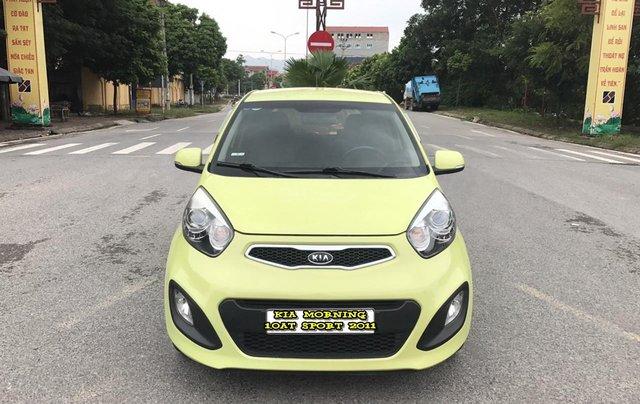 Kia Morning 1.0AT Sport cuối 2011 vàng chanh, 1 chủ, không mới, không đẹp, không chất tặng xe luôn, đẹp nhất thị trường0