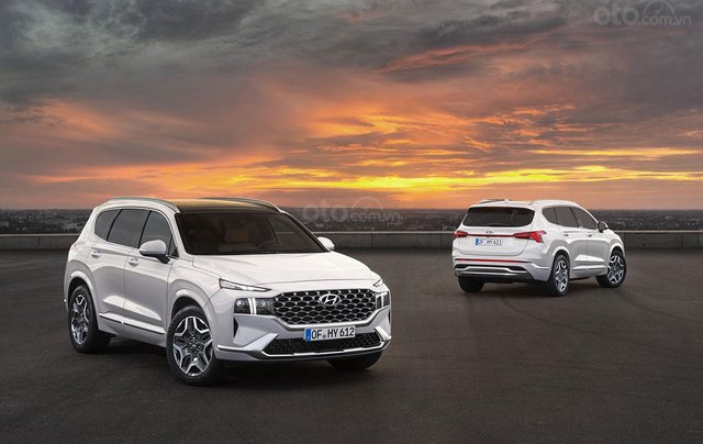 Hyundai Santa Fe facelift sẽ cập bến thị trường Việt vào đầu năm 202113