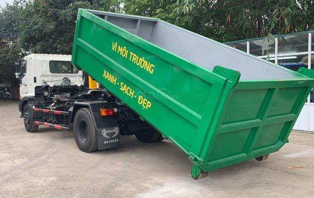 Bán xe chở rác thùng rời Hino Fg 14 khối2