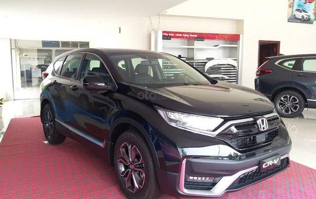 Honda Ôtô Thanh Hóa, giao ngay Honda CRV 1.5L, màu đen, giảm 100% phí trước bạ0