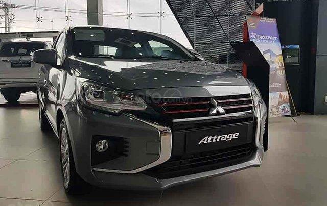 Bán xe Mitsubishi Attrage 1.2 CVT sản xuất năm 2020, màu xám, xe nhập, giá tốt0