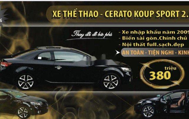 Bán xe Kia Cerato đời 2009, màu đen, nhập khẩu  1