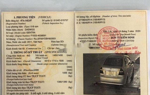 Bán ô tô Daewoo Gentra đời 2011, màu bạc, giá chỉ 170 triệu10