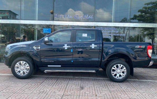 Bán xe Ford Ranger Limited New 2021, màu xanh Crystal Blue, xe nhập2