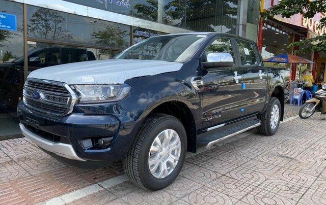 Bán xe Ford Ranger Limited New 2021, màu xanh Crystal Blue, xe nhập1