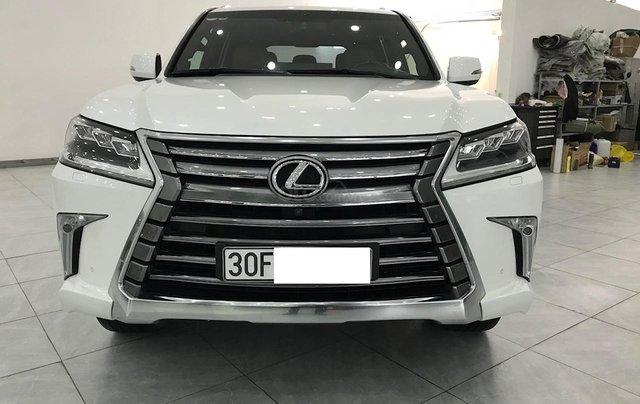 Bán Lexus LX 570 trắng nội thất da bò xe sản xuất 2016 đăng ký cá nhân siêu đẹp0