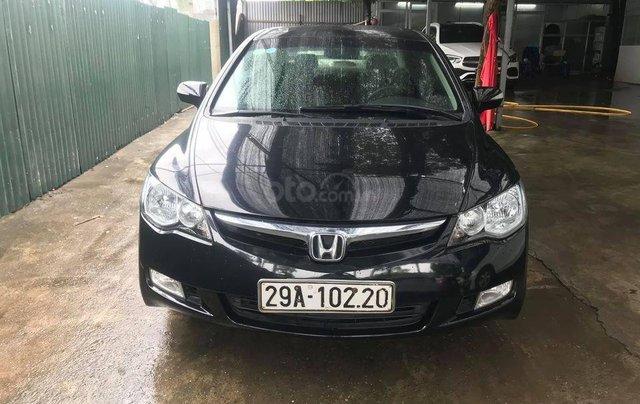 Bán xe Honda Civic đời 2007, màu đen, số tự động4