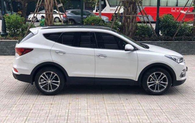 Bán Hyundai Santa Fe đời 2019, màu trắng, bản full option5