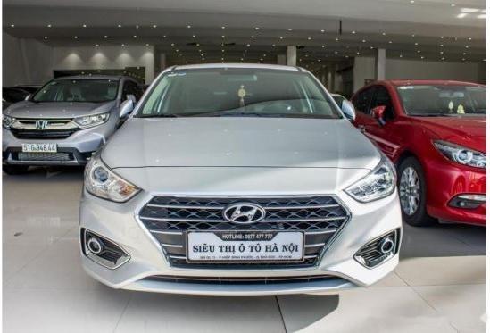 Bán xe Hyundai Accent năm 2018, màu bạc, 480 triệu0