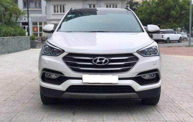 Bán Hyundai Santa Fe đời 2019, màu trắng, bản full option4