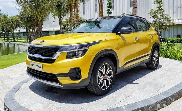 Bán xe Kia Seltos đời 2020, màu vàng 3